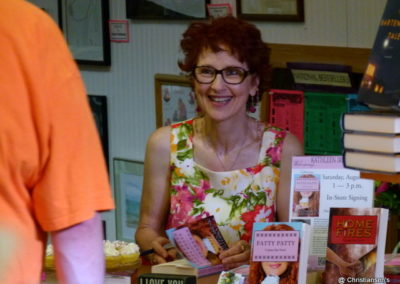 Kathleen at a book signing