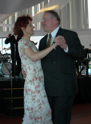 Kathleen and Steve Paterka dancing together