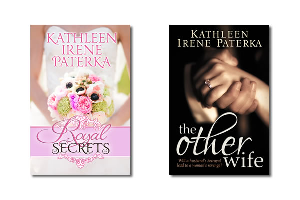 Women's Fiction book covers for Royal Secrets and The Other Wife by Kathleen Paterka